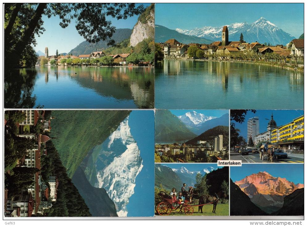 Interlaken - Lot Von 28 Postkarten ° Interlaken- Lot De 28 Cartes Postale - Cartes Postales