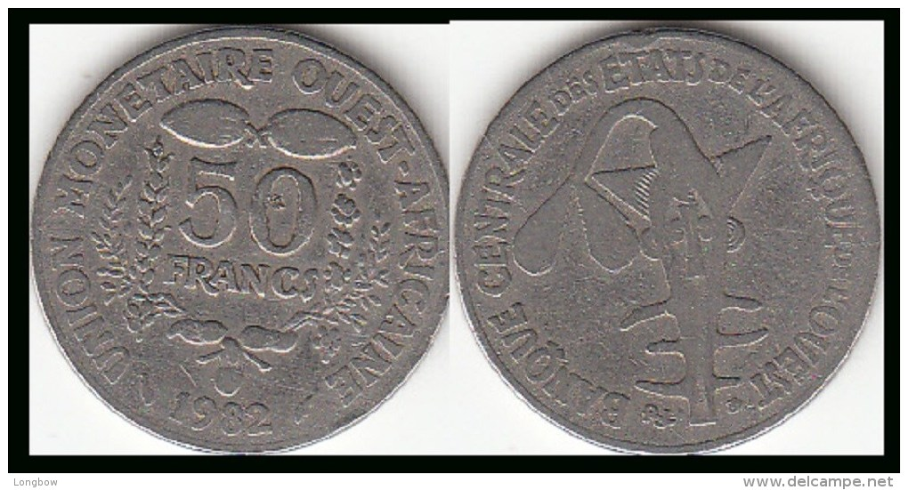REP.CENTRO AFRICANA 50 CAF Francs  1982 FAO KM#6 - Used - Repubblica Centroafricana