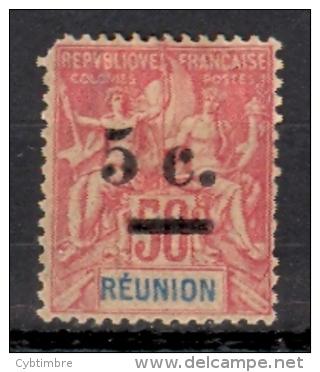Réunion Yvert 53 * ;  Cote 8.00 Coin Arrondi;  Voir Scan - Neufs