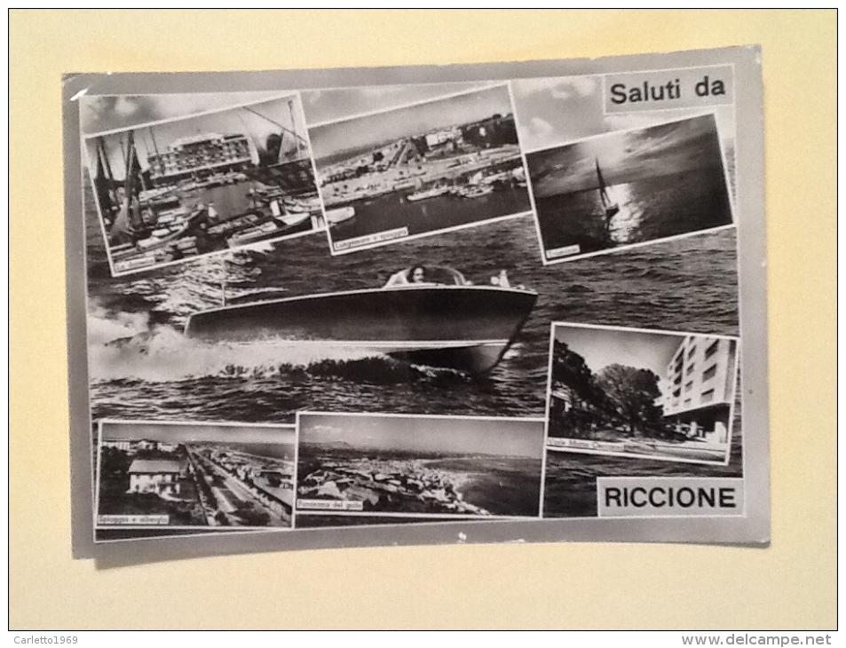 SALUTI DA RICCIONE VIAGGIATA-Q- - Rimini