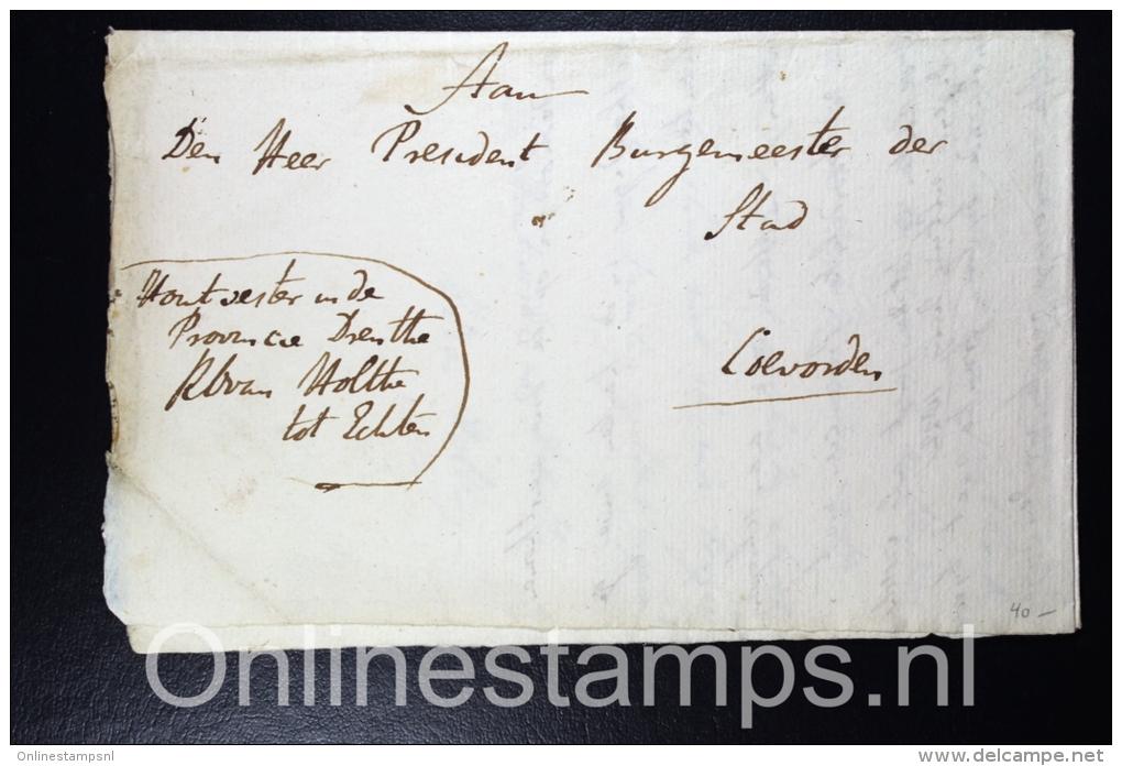 Nederland, 1821 Complete Brief Over Jachtakten Echten Naar Coevorden - ...-1852 Vorläufer