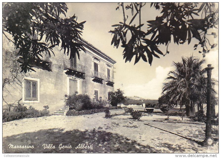 3-3185- Mazzarino - Villa Genio Alberti - Caltanissetta - F.g. Viaggiata - Caltanissetta