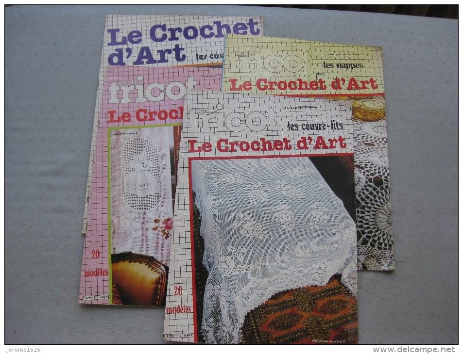 Tout Sur Le Tricot : Le Crochet D´art (4 Livres) & - Wool