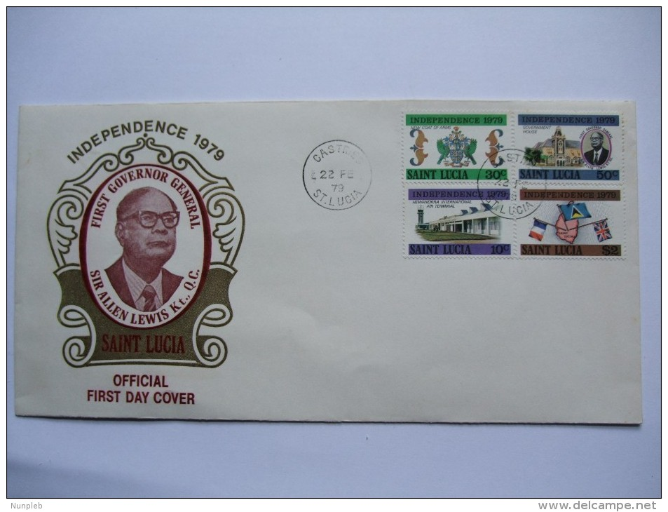 ST. LUCIA 1979 INDEPENDENCE FIRST DAY COVER WITH CASTRIES MARKS - St.Lucia (1979-...)