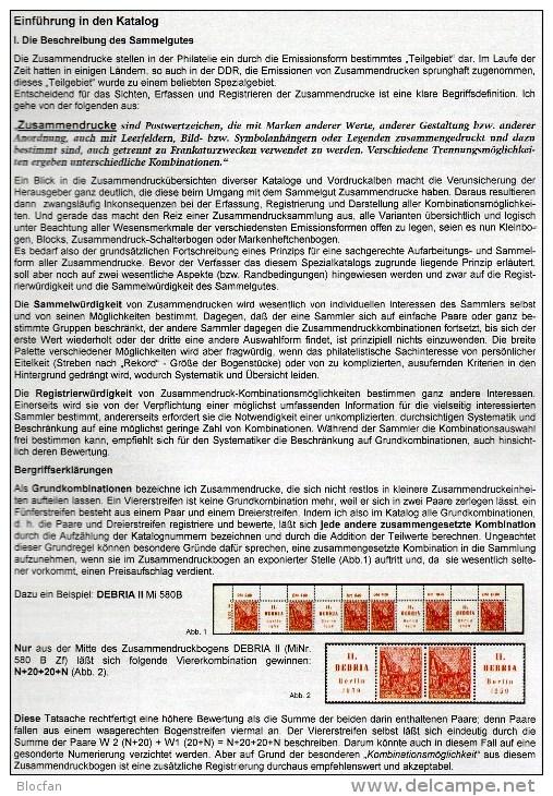 Zusammendrucke/Markenhefte+Abarten 1,2+4 DDR-Katalog RICHTER 2014 New 75€ Se-tenant Booklet Special Catalogue Of Germany - Old Paper