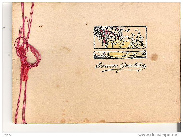 Antique Christmas Card  Sincere Greetings - Other