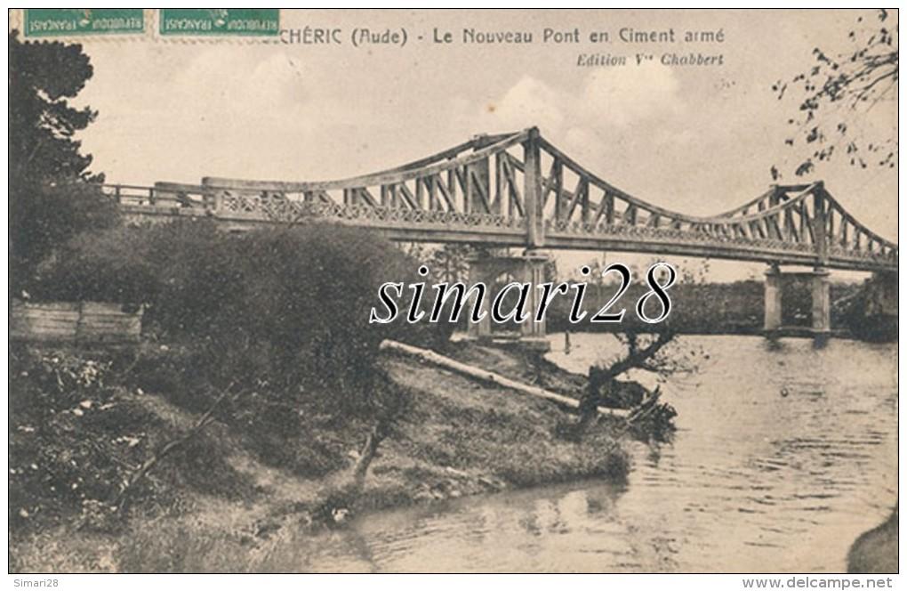 PUICHERIC - LE NOUVEAU PONT EN CIMENT ARME - France