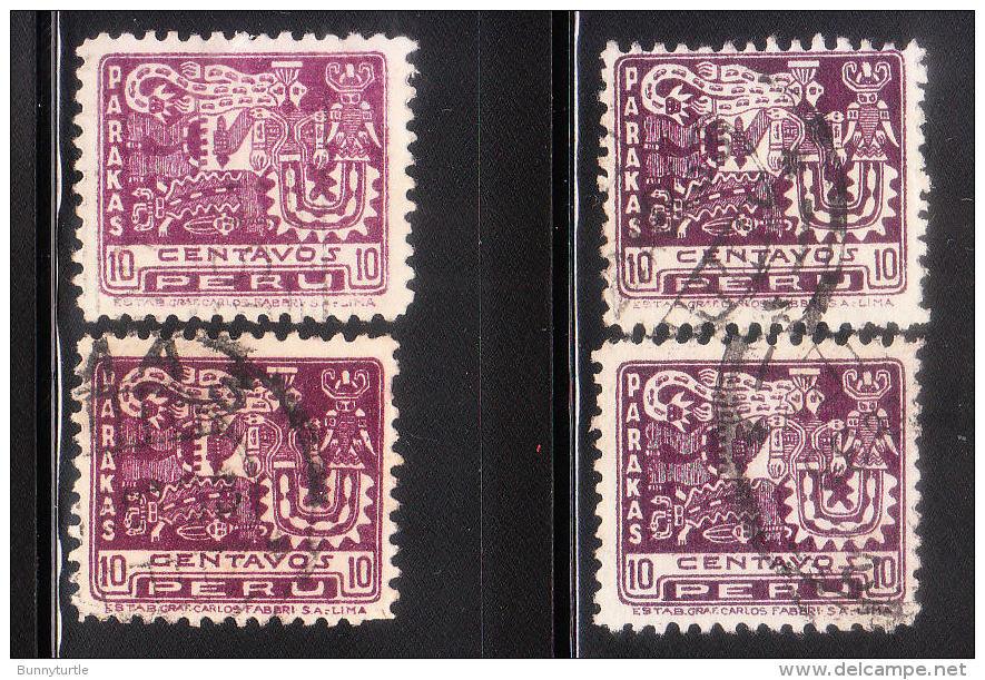 Peru 1932 4th Cent Of Spanish Conquest Of Peru 4v Used - Peru