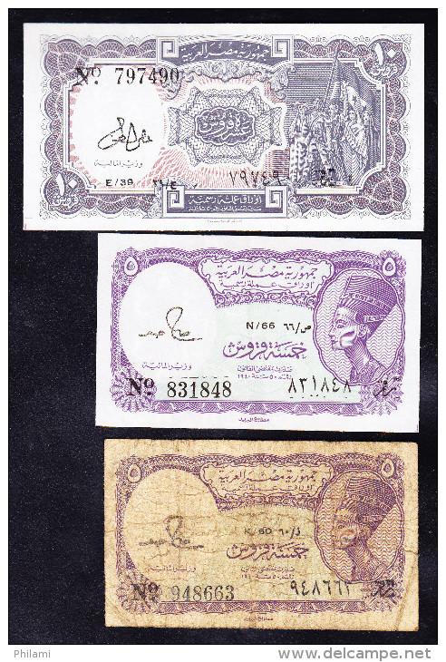 EGYPTE, LOT DE 3 BILLETS. (4B3) - Aegypten