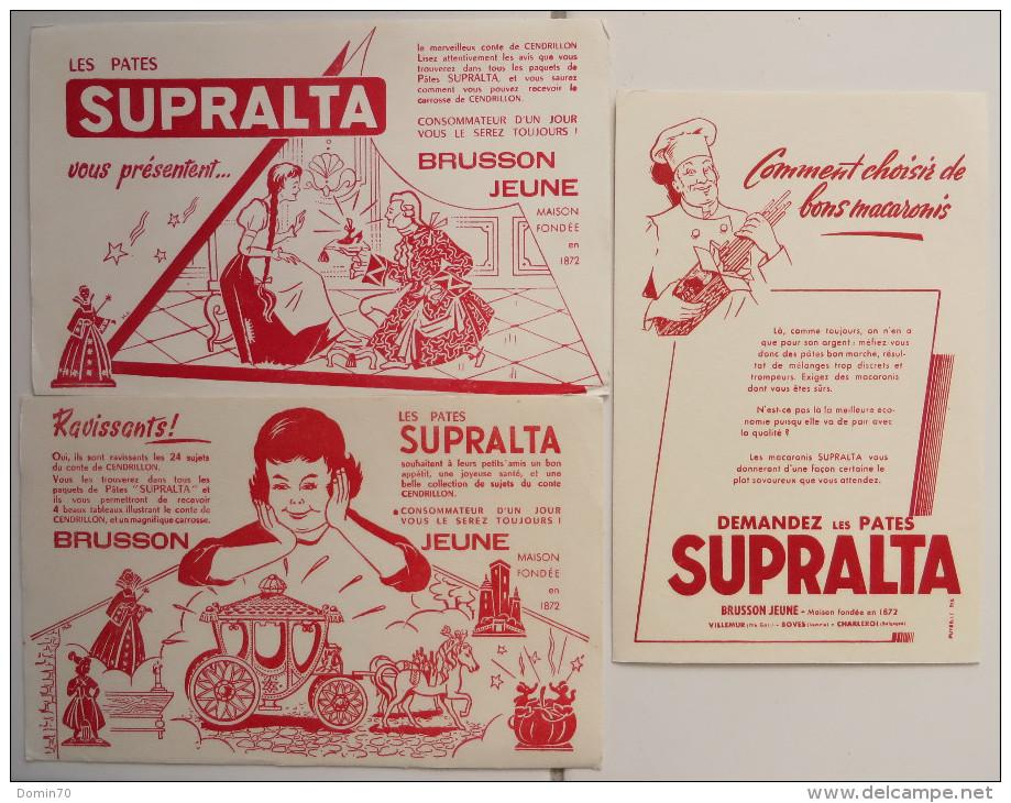 Buvards Pâtes Supralta Brusson Macaronis Cendrillon Lot - Collections, Lots & Séries