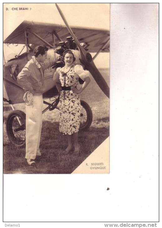 Cartolina Aviazione - Pubblicitaria Fidanzati ---- Viaggiata 31 1 1948 - Aviation