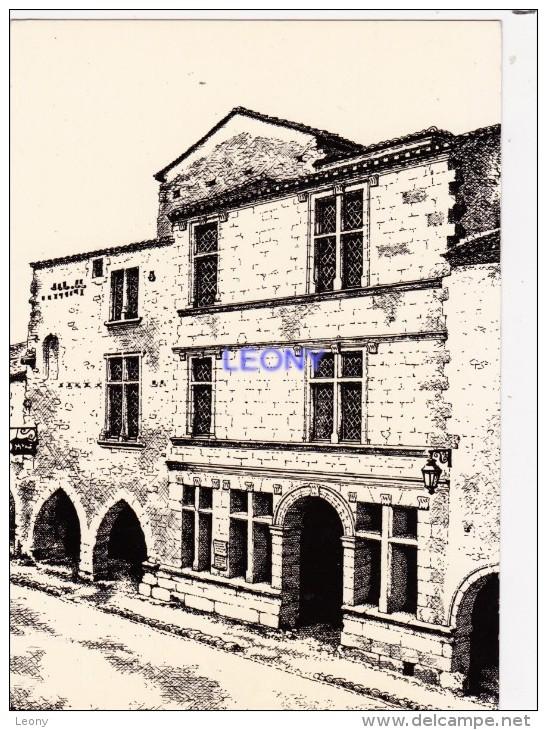 CPM Du Musée Régional Des P.T.T. D' Aquitaine ST MACAIRE (33) - Façade D'après Le Dessin De M. PRINCE - Postal Services