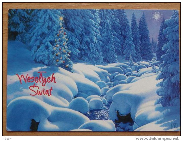 Polish  Postcard / - Natale