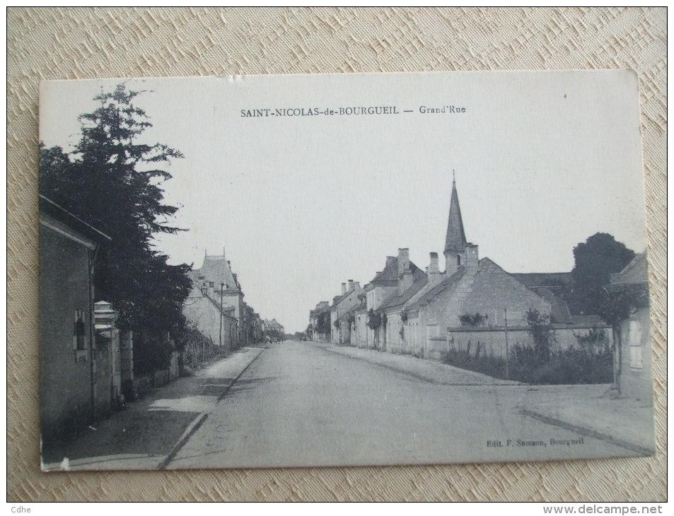 AL6-37 -SAINT NICOLAS DE BOURGUEIL - GRAND'RUE - France