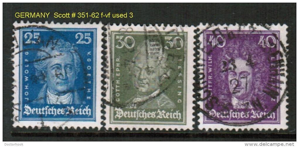 GERMANY    Scott  # 351-62 F-VF USED - Germany