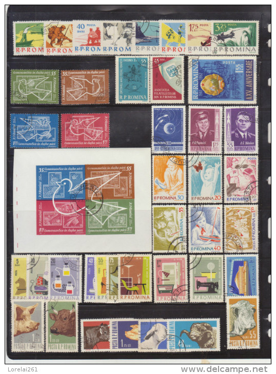 1962 - ROMANIA  Mi No  2041/2116 Et Y&T No 1827/1896 (79 Stamps/38 Euro) FULL - Ganze Jahrgänge