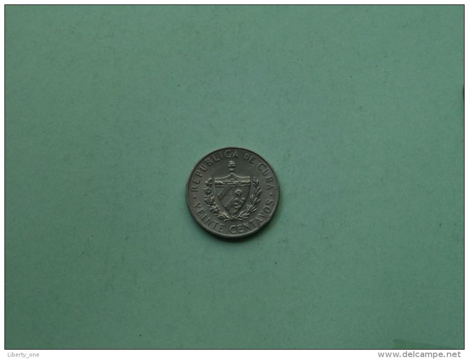 1962 - Veinte Centavos / KM 31 ( For Grade, Please See Photo ) !! - Cuba