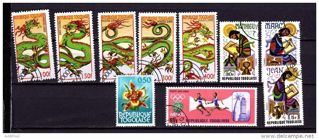 Togo 10 Timbres Oblitérés - Togo (1960-...)