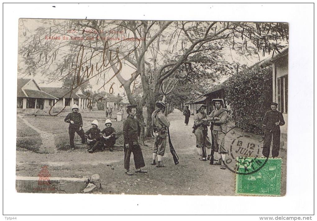 TONKIN  -  Entrée Du Camp Des Tirailleurs Tonkinaois  -  Cachet HANOÏ  -  TONKIN  -  1907 - Cartes Postales