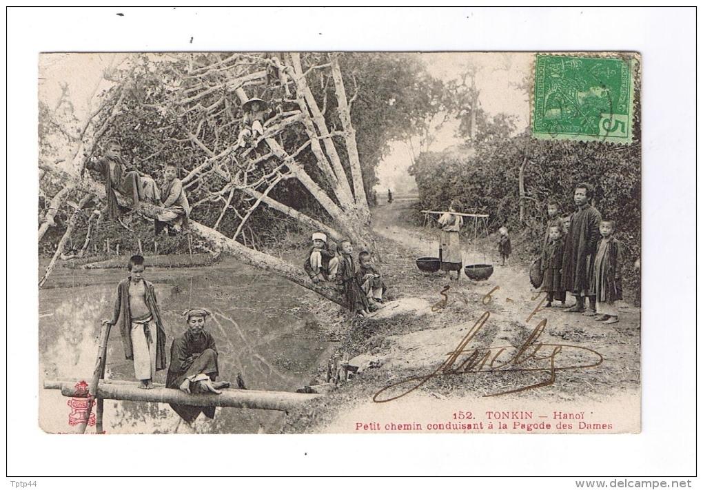 TONKIN  -  Petit Chemin Menant à La Pagode Des Dames  -  Cachet HANOÏ  -  TONKIN  -  1907 - Cartes Postales
