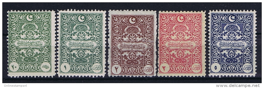Turquie / Turkey: 1922 ISF Nr 1091-1095,  Mi  Porto 47-51 MH/* - 1921-... Repubblica