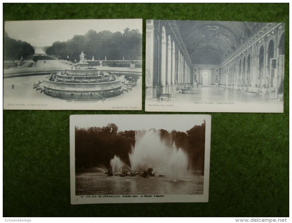 A2763) Versailles 7 Verschiedene Ansichtskarten 5 Ungebraucht / 2 Gebraucht - Ile-de-France