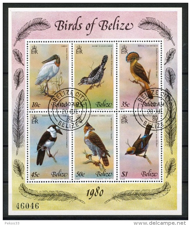 Belize   - Mi.Nr.   487 - 492   -    6 Er   Block   -   Gestempelt - Belize (1973-...)