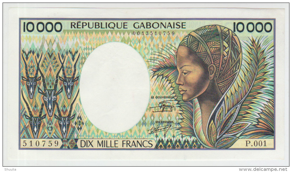 Gabon 10000 Francs 1984 Pick 7a AUNC - Gabon