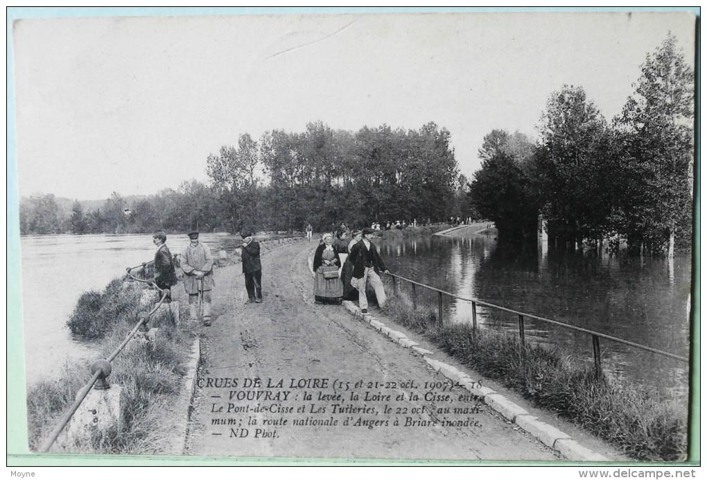 10155 - Indre Et Loire -  VOUVRAY  :  CRUE DE LA LOIRE  LES 15,21 Et 22 Oct. 1907 - Circulée En 1907 - Vouvray