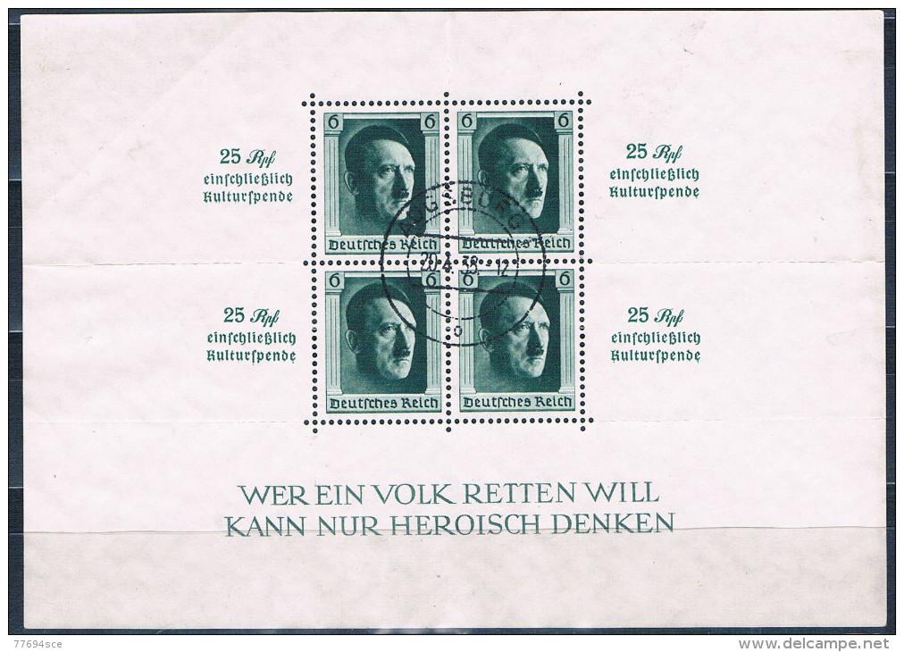 1937  Blockausgabe Kulturförderung  Block Nr. 9 - Blocks & Kleinbögen