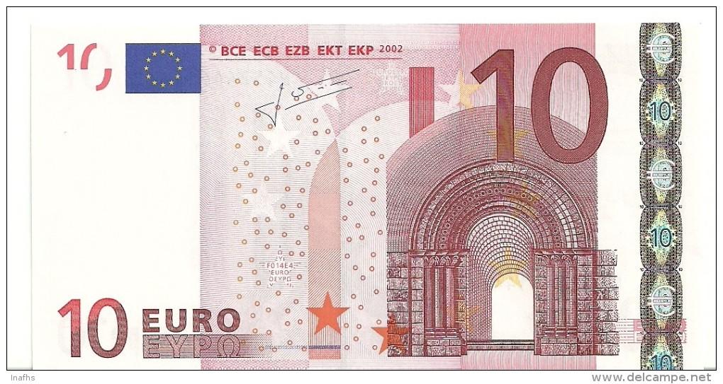 Austria Letter N Printercode F014 Trichet UNC - EURO