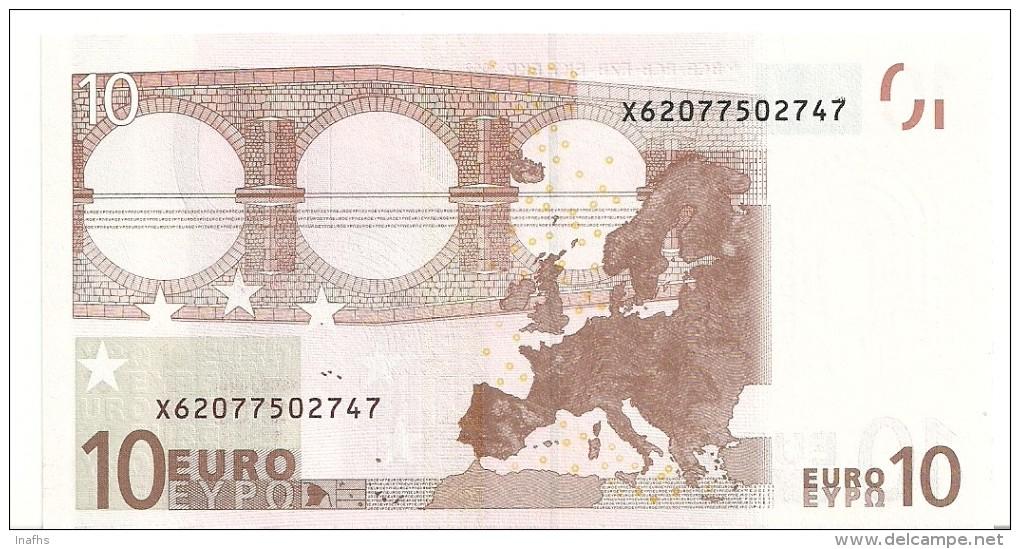 Germany Letter X EUR 10 Printercode E002 Tichet UNC - EURO
