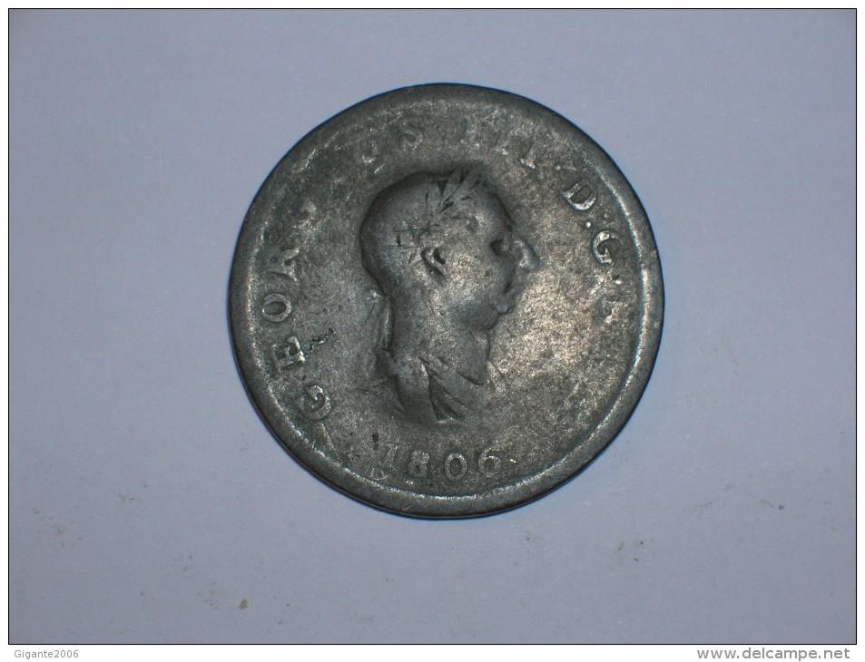 Gran Bretaña 1/2 Penique 1806 (5432) - 1662-1816 : Acuñaciones Antiguas Fin XVII° - Inicio XIX° S.