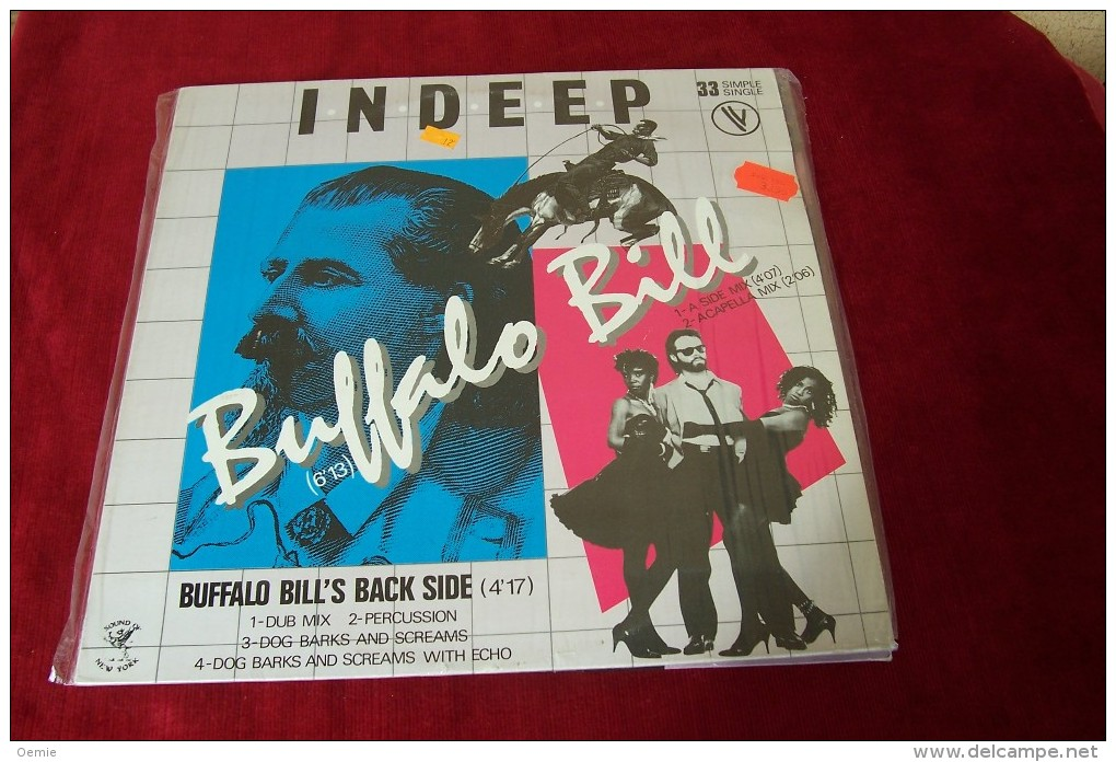 INDEEP  °  BUFFALO  BILL °  MAXI 33 TOURS - 45 T - Maxi-Single