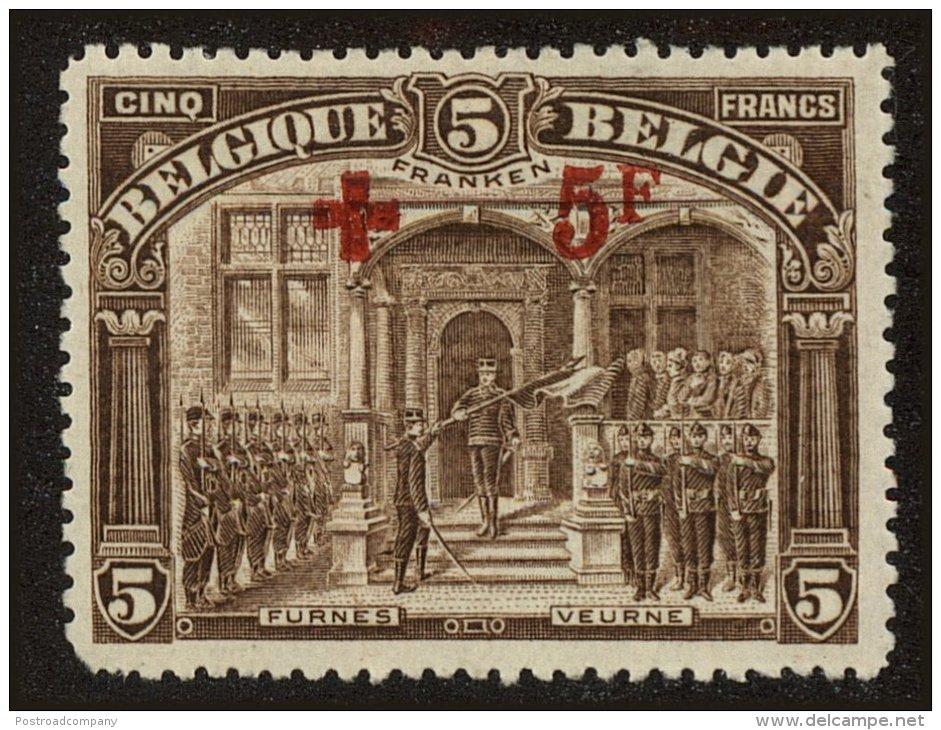 Belgium Scott #B46, 1918, Hinged - 1918 Red Cross