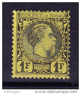 Monaco - 1885 - Mi# 9 * - Attest - Non Classés
