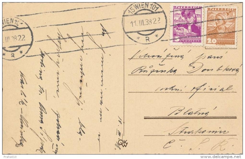I5335 - Austria (1938) 15 Wien 101 (Last Day Austria! - 11.III.38-22), 12.03.1938 - The Anschluss Österreichs) - 1918-1945 1. Republik