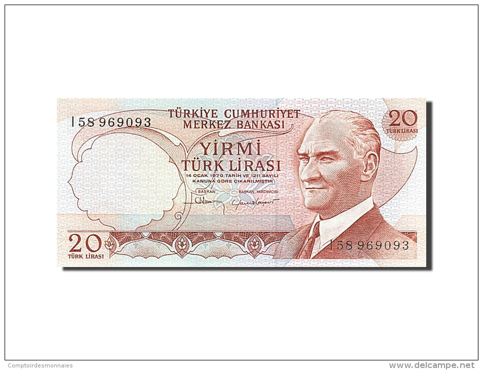 [#255627] Turquie, 20 Lira, Type Président Kamel Atatürk - Turquie
