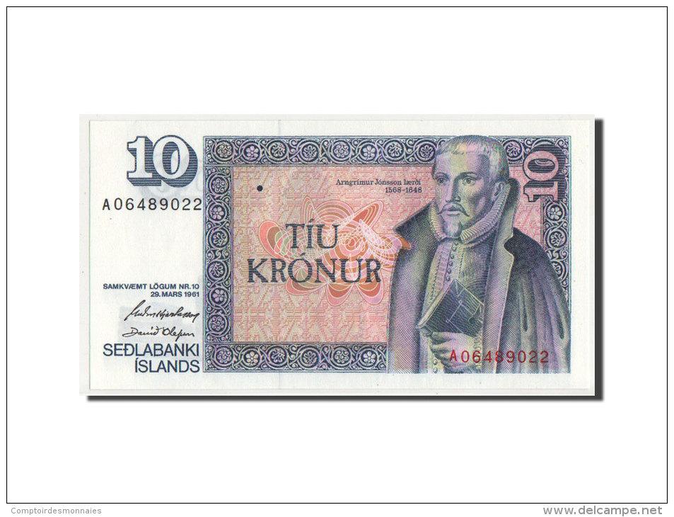 [#350078] Islande, 10 Kronur Type Law 29.03.1961, Pick 48a - IJsland