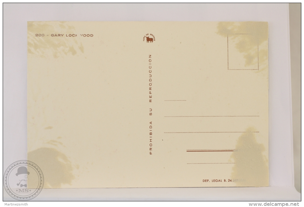 Original & Rare 1960s Postcard - Gary Lockwood - Printed In Spain - Acteurs