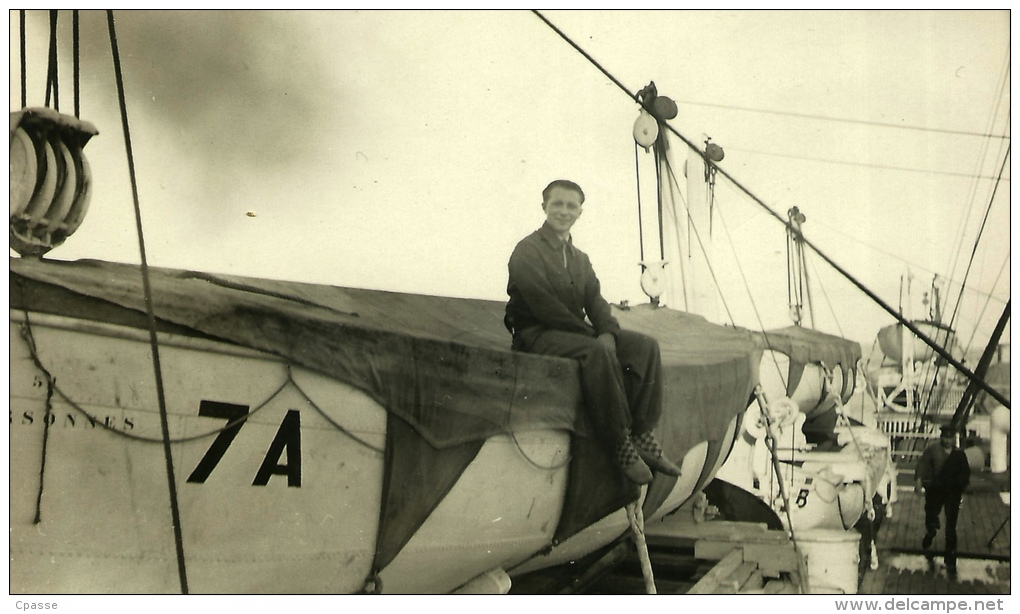 """PHOTO Photographie Amateur (LOT De 2) (Paquebot) """"MEXIQUE"""" (French Line) - Ship Boat - Bateaux"""
