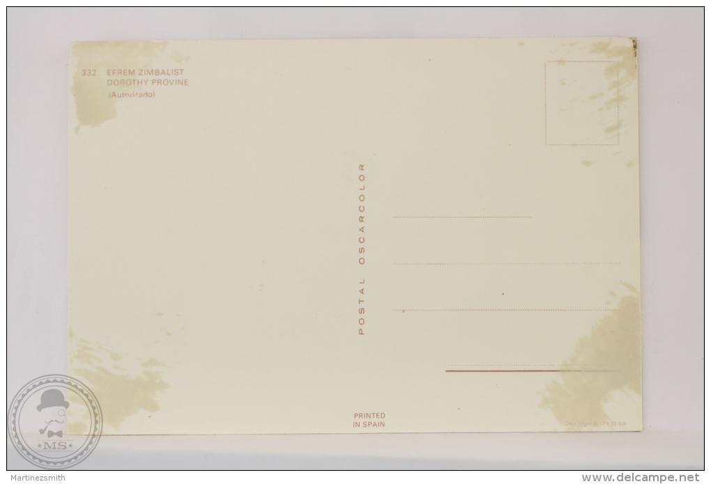Original & Rare 1960s Postcard - Efrem Zimbalist & Dorothy Provine - Edited Oscarcolor, Printed In Spain - Acteurs