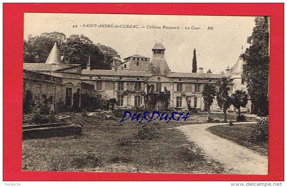 Gironde - ST-ANDRE DE CUBZAC - Château Peugeard - La Cour - France