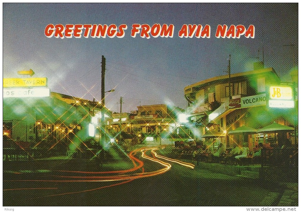 Greetings From Avia Napa  Cyprus.     # 03398 - Cyprus