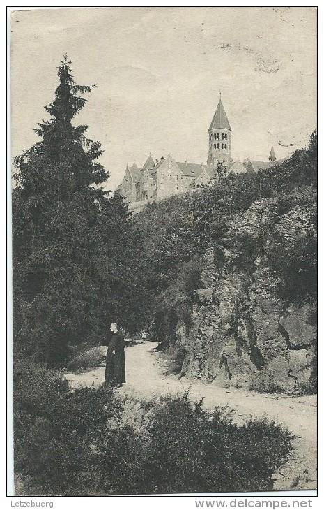 Clervaux (Klierf) - Abbaye St. Maurice Vue De L´Église (ca. 1913) - Clervaux