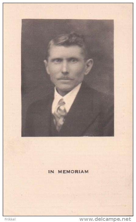 Doodsprentje Met Foto Theodoor Bauwens (x Romanie Van Craenenbroeck ) ° Klinge 1883 + 1941 - Devotieprenten