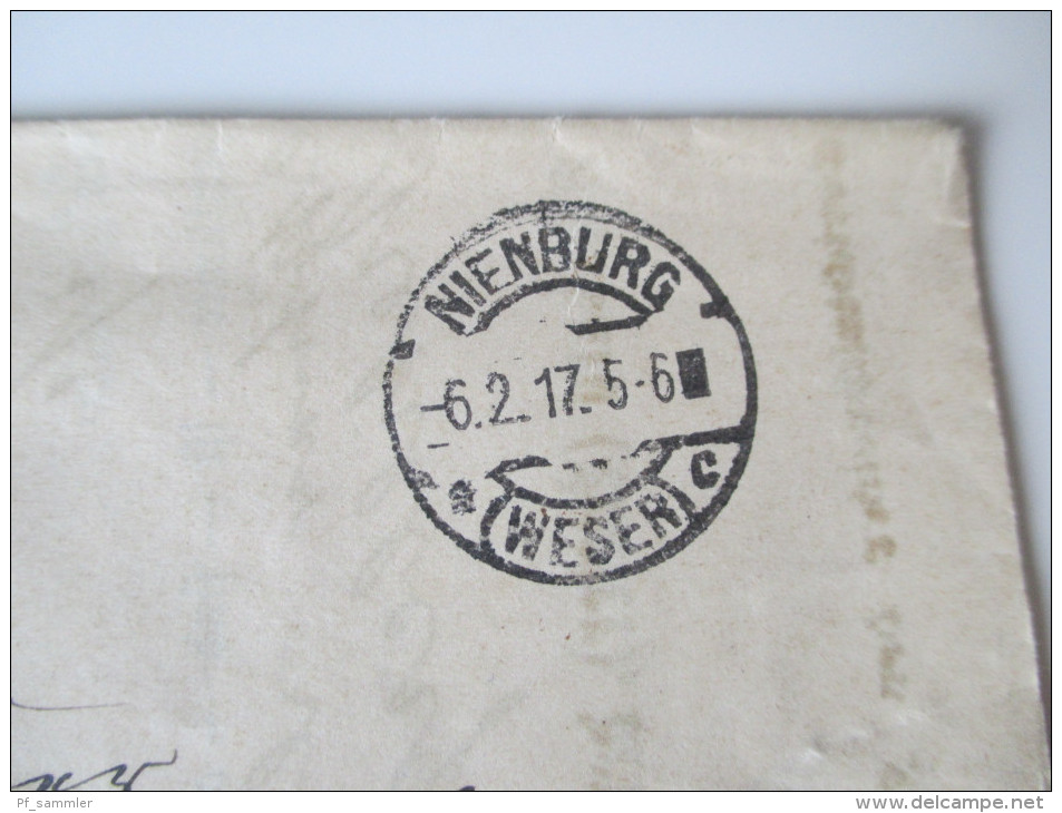 Grundbuch Eintrag / Übertrag 1917 Frei Durch Avers No. 21 Kgl. Pr. Amtsgericht. Nienburg. Urkunde / Dokument - Allemagne