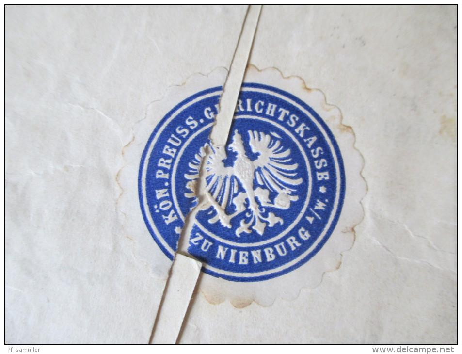Grundbuch Eintrag / Übertrag 1917 Frei Durch Avers No. 21 Kgl. Pr. Amtsgericht. Nienburg. Urkunde / Dokument - Brieven En Documenten