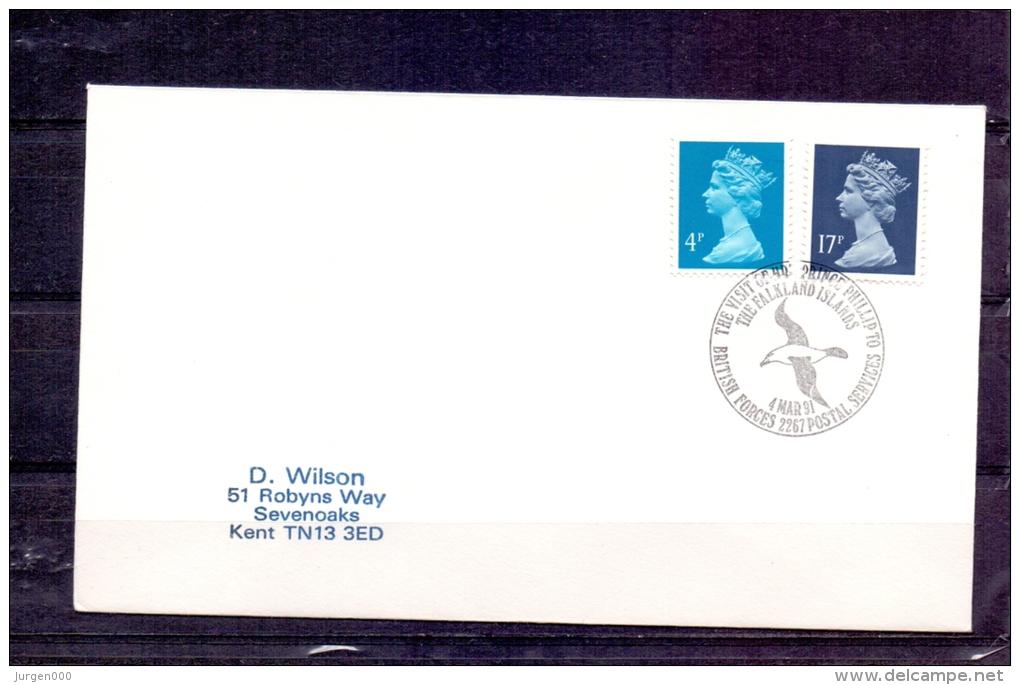 Great Britain - Visit Prince Philip Falklands Islands - British Forces - 4/3/1991 (RM4308) - Albatros