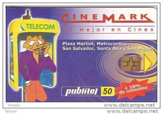 El Salvador, ELS-PUB-012, Cinemark, 2 Scans. - El Salvador